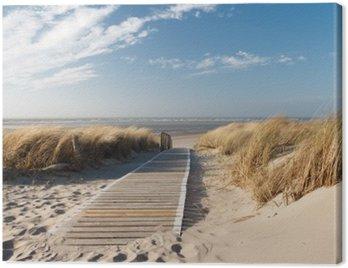 Nordsee Strand auf Langeoog Canvas Print
