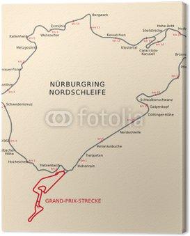 Canvas Print Nürburgring