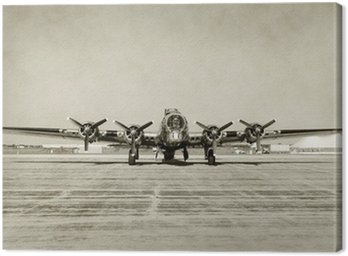 Canvas Print Old bomber front view