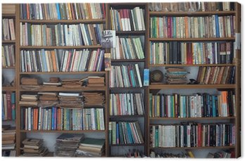 Canvas Print Old book case