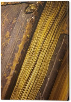 Canvas Print Old book