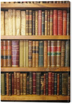 Canvas Print Old books, library