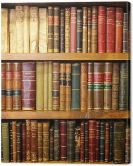 Old books, library