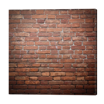 Old grunge red brick wall texture Canvas Print • Pixers ...