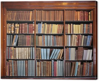 old library bookshelf