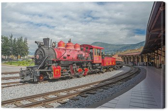 old locomotive train on a railroad track