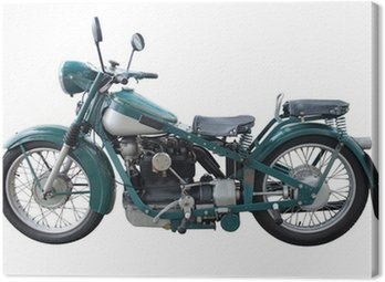 Canvas Print Old Motorcycle