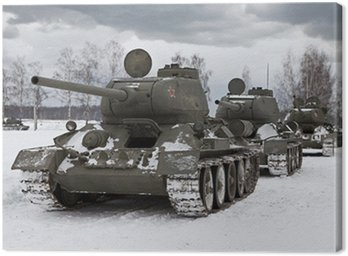 Canvas Print Old Russian Tanks