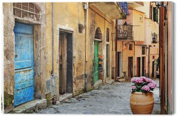 Canvas Print old streets of Italian villages