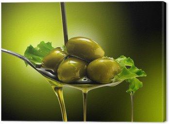 Canvas Print olio e olive