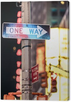 Canvas Print One way New York traffic sign