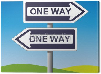 Canvas Print One Way Sign