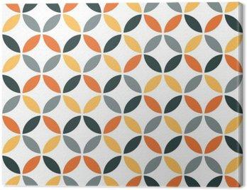 Canvas Print Orange Geometric Retro Seamless Pattern