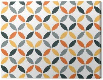 Orange Geometric Retro Seamless Pattern Canvas Print