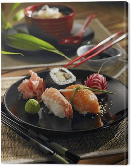 Oriental food Canvas Print
