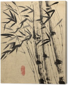 Canvas Print original drawing of bamboo