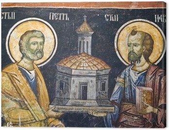 Orthodox church wall painting