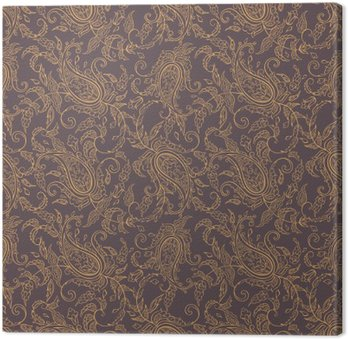 paisley fabric orient seamless pattern Canvas Print