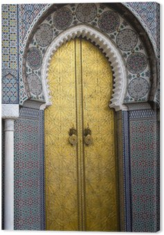 Canvas Print Palace in Fes, Morocco