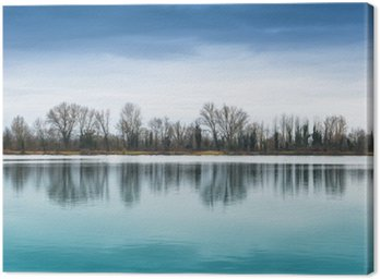 Canvas Print panorama lacustre