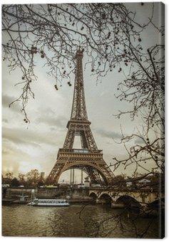 Canvas Print Parigi Tour Eiffel Tramonto