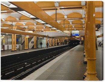 Paris Metro - Subway Station Canvas Print
