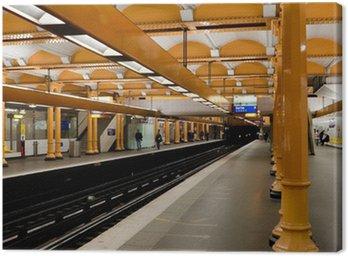 Canvas Print Paris Metro - Subway Station
