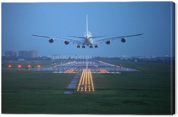 passenger plane fly up over take-off runway from airport