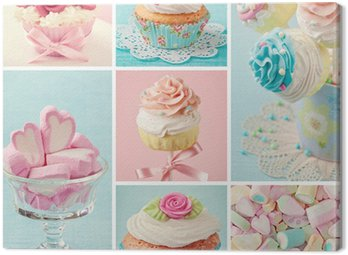Canvas Print Pastel colored sweets