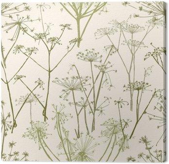 pattern of the umbrella flowers Canvas Print