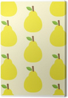 pattern vector background Cute fruit color Look delicious Round- Canvas Print