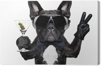 Canvas Print peace cocktail dog