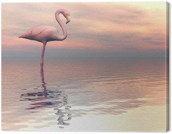 Peaceful falmingo- 3D render Canvas Print