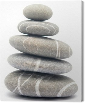 Canvas Print pebble tower