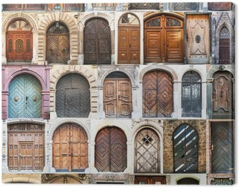 Canvas Print photo collage of old doors