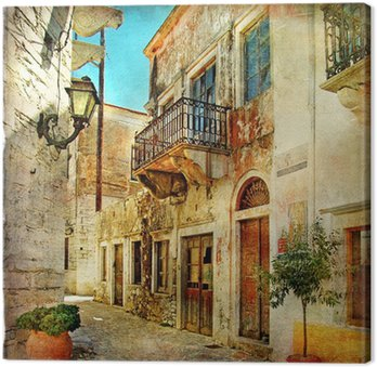 pictorial old streets of Greece