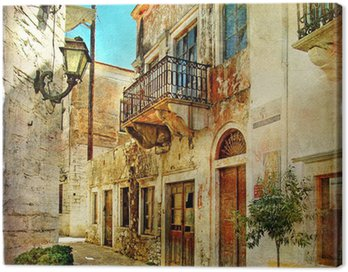 Canvas Print pictorial old streets of Greece