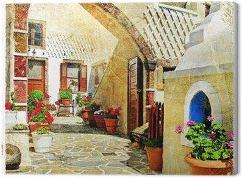 Canvas Print pictorial streets of Santorini