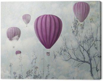 Canvas Print Pink Balloons