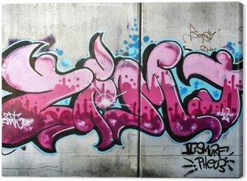 Pink graffiti in Salzburg, Austria. Urban art or vandalism.