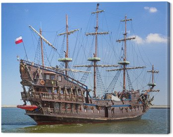Canvas Print Pirate galleon ship on the water of Baltic Sea in Gdynia, Poland