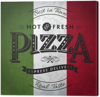 Canvas Print Pizza