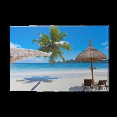 Plage paradisiaque des seychelles canvas print pixers we live to change - Image de plage paradisiaque ...