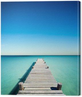 plage vacances ponton bois Canvas Print