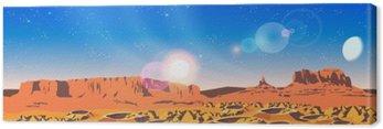 Canvas Print Planet Landscape