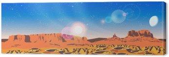 Planet Landscape Canvas Print