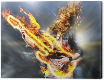 Canvas Print playing rock music