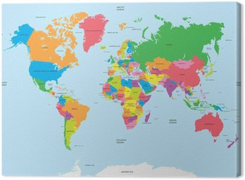 Political map of the world vector