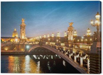 Canvas Print Pont Alexandre 3 - Paris - France