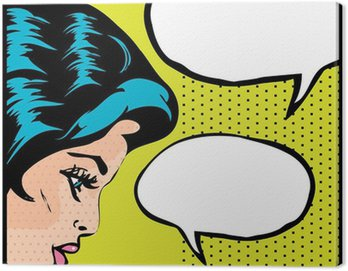 Canvas Print Pop art vector illustration of a woman